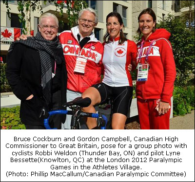 Bruce Cockburn inspired by Team Canada in Paralympic Athletes