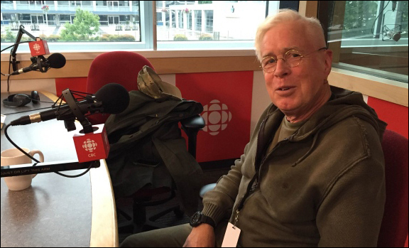 Bruce Cockburn CBC studio Vancouver photo-Margaret Gallagher/CBC